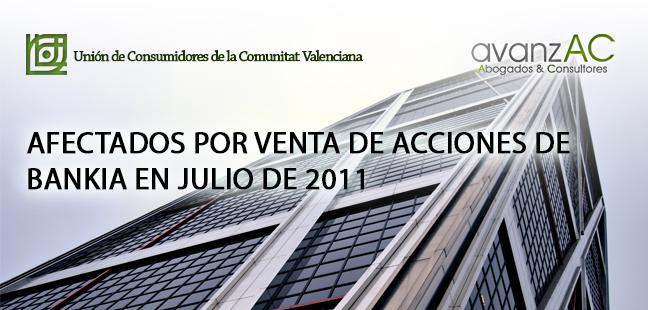 Afectados por la venta de Acciones Bankia