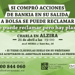 El 21 de Abril se celebrará en Alzira una Charla sobre las Acciones de Bankia