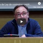 Jornada de Ley de contratos créditos inmobiliarios