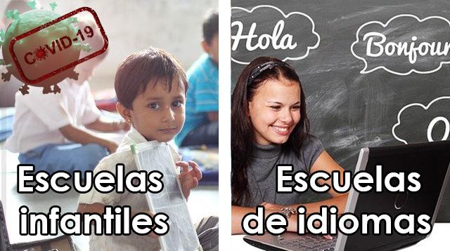Escuelas Infantiles-Escuelas Idiomas-Covid19
