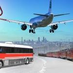 Los viajes en avión, tren, atobús y barcos en la crisis del Covid 19